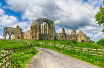 Egglestone Abbey ruins in County Durham