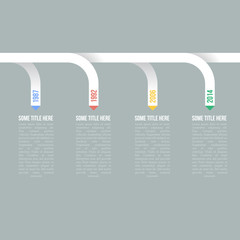 Infographic Timeline or Progress Report Template
