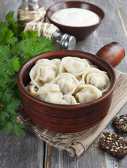 Dumplings with meat