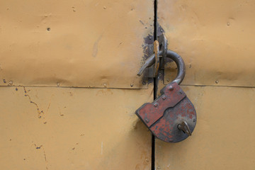 Old hinged lock