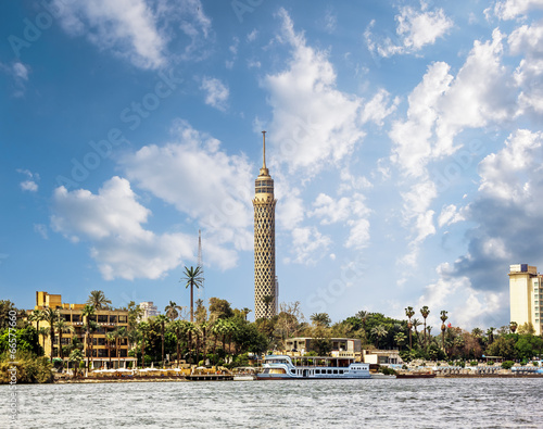 Cairo Tower, Cairo on the Nile in Egypt - 66577660