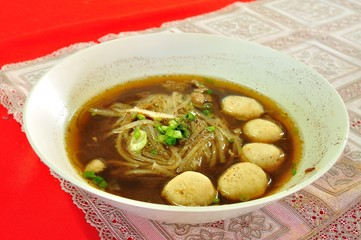 Thai Noodle Soup with Meat
