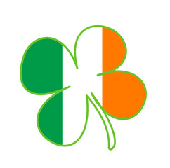 Irish National Symbol With Ireland Flag's Colours
