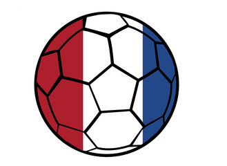 Isolated Clip Art Football With Netherlands Flag's Colors