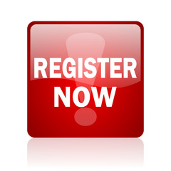 register now computer icon on white background
