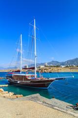 Sailing ship in Kyrenia (Girne) port, Cyprus