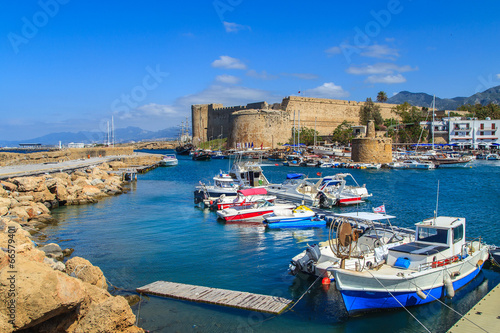 Poster Stad aan het water Fortress in Kyrenia (Girne), North Cyprus