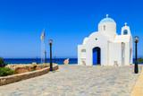 Fototapeta A church on a shore near Protaras, Cyprus