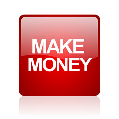 make money computer icon on white background