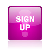 sign up computer icon on white background