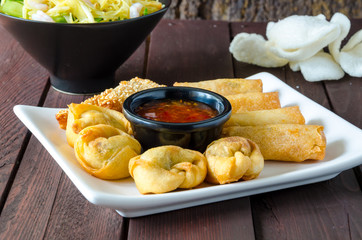 Chinese Wontons and Stir Fry