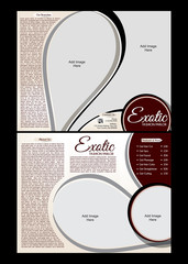 tri fold Exotic Parlor Brochure Template