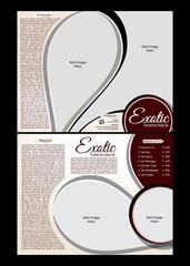 tri fold Exotic Parlor Brochure Template