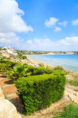A view of a Coral beach in Paphos, Cyprus