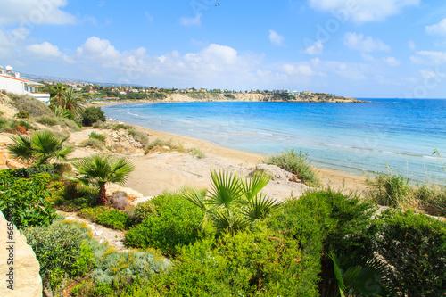Plexiglas Cyprus A view of a Coral beach in Paphos, Cyprus