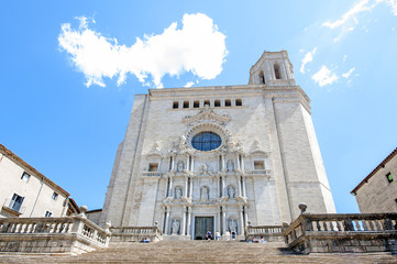 Girona cathedral.Catalonia.Spain
