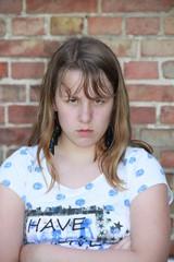 Mädchen hat schlechte Laune