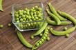 peeling organic peas