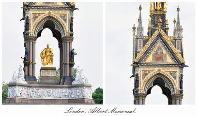 London. Albert Memorial.  Сollage