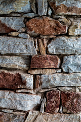 stone texture in wall construction