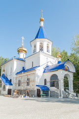 temple in honor of icon of God Mother. Tyumen