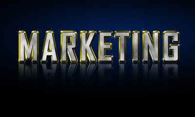 Marketing design concept