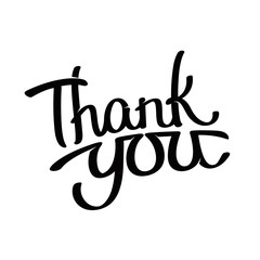 Thank you - hand written lettering