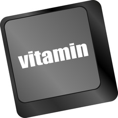 vitamin word on computer keyboard pc key