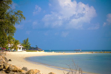Paradise nature, sea water, summer and hotel house on the