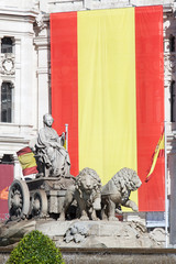 Cibeles square, Madrid, Spain