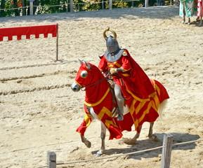 charge du chevalier en armure