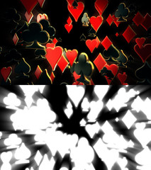 Poker Suits Abstract Background