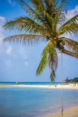 Thailand beach and sun shining