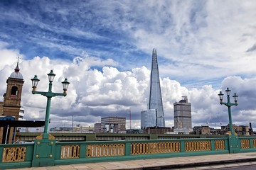 Shard building from Southwark Bridge in London
