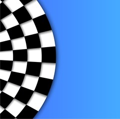 Racing Flag Vector Background Design