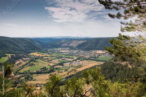 Vallée du Valdonnez depuis le Truc de Balduc, Lozère Poster