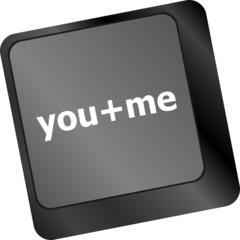 you plus me message on keyboard enter key