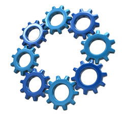 Ring of blue gears