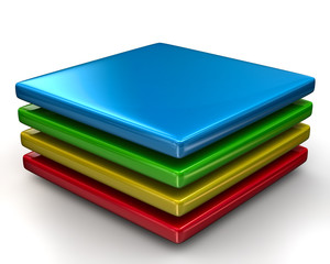 Colorful layers Icon