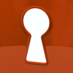 Keyhole in orange