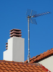 Chimney and antenna