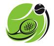 Stylized tennis icon
