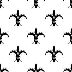 Retro seamless pattern with french fleur de lys