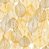 Fototapety Autumnal leaves seamless pattern