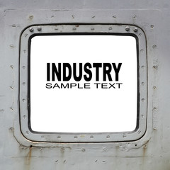 Aircraft window with space for your text.