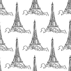 Eiffel Tower seamless background pattern