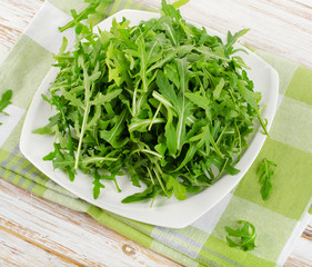 Fresh arugula salad