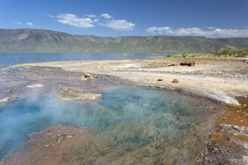 Hot springs at Lake Bogoria in Kenya