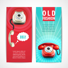 Old telephone banners vertical