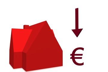 dalende woning prijzen